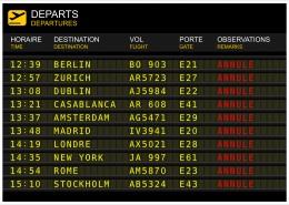 ©sablin/Tableau des départs de vols. « vol annulé »