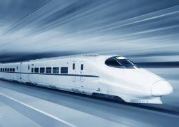 Fast train with motion blur /  zhu difeng